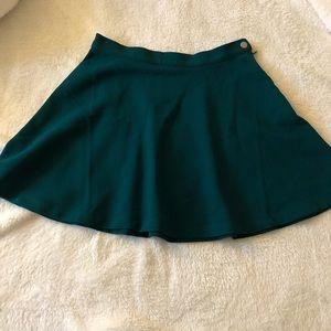 Emerald Green Circle Skirt